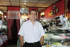 Inhaber eines Kleinunternehmenkaffee Stockbilder