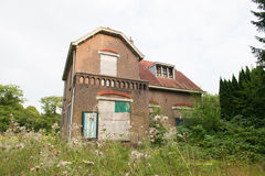 Inhabitable old house Stock Images
