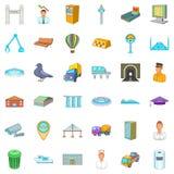 Inhabitant of capital icons set, cartoon style. Inhabitant of capital icons set. Cartoon set of 36 inhabitant of capital vector icons for web isolated on white Stock Photography