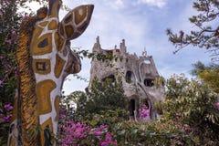 Inhabitant of the fairy house enjoys beautiful views Stock Photography