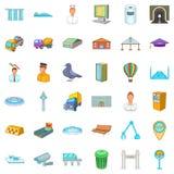Inhabitant icons set, cartoon style. Inhabitant icons set. Cartoon set of 36 inhabitant vector icons for web isolated on white background Stock Images