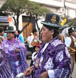 The inhabitants of the city during the carnival in honor of the virgin of Guadalupe Royalty Free Stock Image
