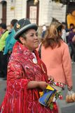 The inhabitants of the city during the carnival in honor of the virgin of Guadalupe Royalty Free Stock Photography