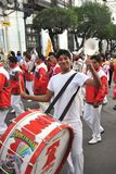 The inhabitants of the city during the carnival in honor of the virgin of Guadalupe. Stock Photos