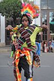 The inhabitants of the city during the carnival in honor of the virgin of Guadalupe. Royalty Free Stock Photos