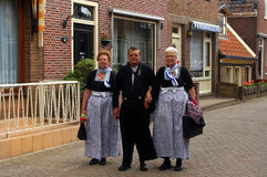 Inhabitants of Volendam, The Netherlands Royalty Free Stock Photography