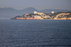 Inhabited residential district on sea coast. Salou, Tarrogona, Spain Stock Image
