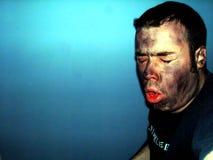 Inhalación del humo Imagen de archivo