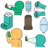 Inhalacyjna medycyna ilustracji