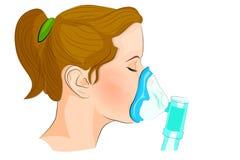 Inhalacyjny dosage dla dorosłych i dzieci royalty ilustracja