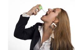 Inhalador del asma Fotografía de archivo libre de regalías