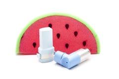Inhalador del asma Foto de archivo libre de regalías