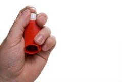Inhalador del asma fotografía de archivo