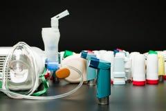 Inhaladores del asma Fotografía de archivo