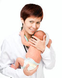 Inhalant Doctor Baby Stock Photos
