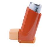 Inhalateur d'asthme d'isolement sur le blanc Images libres de droits