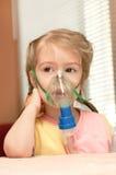 Inhalatie stock foto