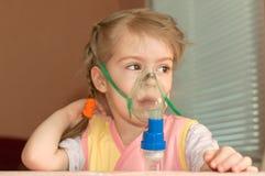 Inhalatie stock afbeelding