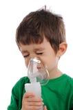 Inhalatie thuis Royalty-vrije Stock Afbeeldingen