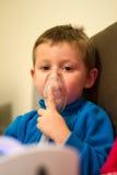 Inhalation aerosols treatment Royalty Free Stock Photo