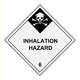 Inhalation Hazard Warning Label Royalty Free Stock Photo