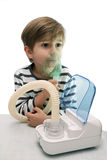 Inhalation with nebuliser Stock Photos