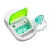 Inhalatoru kompresoru nebulizer na białym tle Zdjęcia Stock