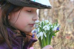 Inhale the aroma flowers Stock Photos