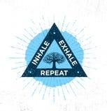Inhale. Exhale. Repeat. Spa Yoga Meditation Retreat Organic Design Element Concept.  Stock Photo