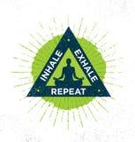 Inhale. Exhale. Repeat. Spa Yoga Meditation Retreat Organic Design Element Concept.  Stock Image