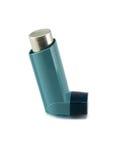 Inhaler άσθματος που απομονώνεται σε ένα άσπρο υπόβαθρο Στοκ φωτογραφία με δικαίωμα ελεύθερης χρήσης