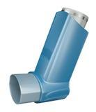 Inhaler. Blue medicine inhaler isolated on white background. 3D render Royalty Free Stock Photo