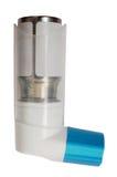 Inhaler with a drug stock image