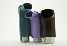 Inhaler with a drug Royalty Free Stock Photos
