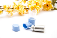 Inhaler with flowering branch Royalty Free Stock Image