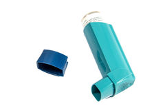Inhaler. A isolate Asthma Inhaler on white background Royalty Free Stock Image