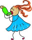 Inhaler kid royalty free illustration