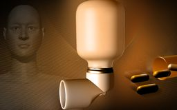 Inhaler used by asthma patients Stock Images