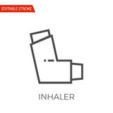 Inhaler Vector Icon. Inhaler Thin Line Vector Icon. Flat Icon Isolated on the White Background. Editable Stroke EPS file. Vector illustration Royalty Free Stock Photos
