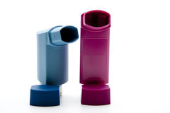 Inhalers for asthma. And suffering from a lung disease ones Royalty Free Stock Photo
