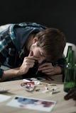 Inhaling cocaine Stock Photo