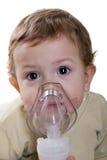 Inhaling mask Royalty Free Stock Images