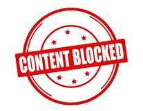 Inhalt blockiert Stockbilder