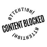 Inhalt blockierte Stempel Stockbild