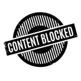 Inhalt blockierte Stempel Lizenzfreie Stockfotos