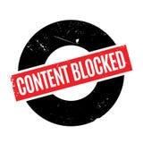 Inhalt blockierte Stempel Lizenzfreie Stockfotografie