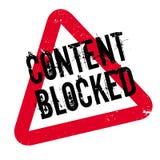 Inhalt blockierte Stempel Lizenzfreies Stockbild