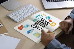 INHALT IST KÖNIG seo Suchmaschinen-Optimierung und Inhalt marke Stockfoto
