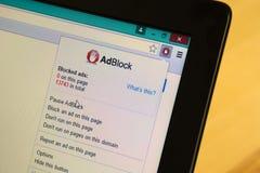 Inhalts- oder Anzeigenblocker Lizenzfreies Stockbild