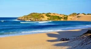 Inhambane kustlinje Mocambique Arkivbilder